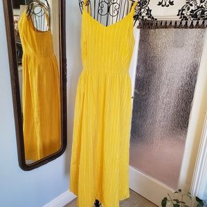 Old navy yellow pinstriped dress